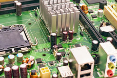 PC motherboard closeup Stock Photos