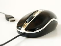 PC Mouse with USB isolated Royalty Free Stock Photos
