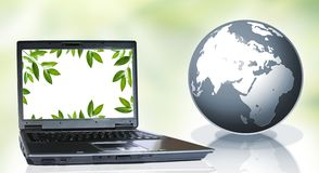 Pc and nature Royalty Free Stock Image
