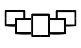 Pc nero dei ridurre in pani degli schermi in bianco orizzontale Fotografia Stock Libera da Diritti