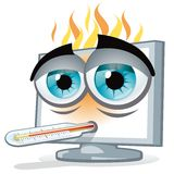 PC overheating Stock Image