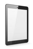 PC preto bonito da tabuleta no fundo branco Imagens de Stock Royalty Free