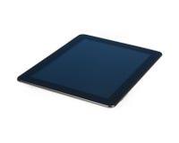 PC preto moderno da tabuleta isolado no fundo branco Fotografia de Stock Royalty Free