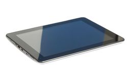 PC preto moderno da tabuleta isolado no fundo branco Imagem de Stock