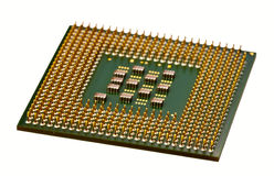 PC processor. Computer processor on a white background Stock Photography