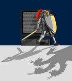 Pc proteggente del cavaliere Fotografia Stock