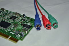 PC-raad en gekleurde kabelsterminals Royalty-vrije Stock Fotografie