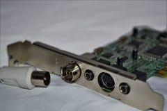 PC-raad - interne TV-losgemaakte tunerkaart Stock Afbeeldingen