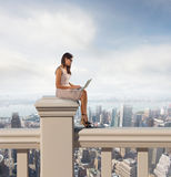Pc relax above city Stock Photography