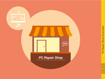 PC Repair Shop Illustration Royalty Free Stock Photos