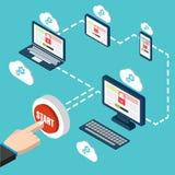 PC responsivo Busca da vulnerabilidade Otimização de SEO, analyt da Web Imagem de Stock Royalty Free