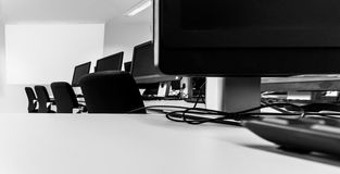 PC Room / Perspective Royalty Free Stock Photo
