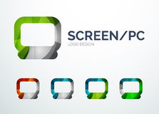 PC screen logo design made of color pieces Royalty Free Stock Photography
