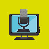 pc screen microphone speaker Royalty Free Stock Image