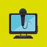 pc screen microphone speaker Stock Photo