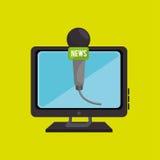 pc screen microphone speaker Royalty Free Stock Photo