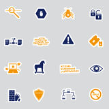 Pc security stickers eps10 Stock Photography