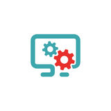 PC settings icon vector illustration. Royalty Free Stock Images