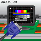 PC signal Test in Process Production Royalty Free Stock Photo