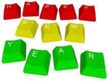 PC-sleutels Gelukkig Nieuwjaar Royalty-vrije Stock Fotografie