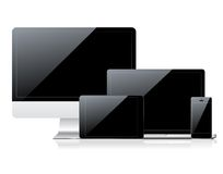 PC μηνυτόρων, smartphone, lap-top και ταμπλετών υπολογιστών Στοκ Εικόνες
