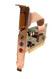 PC Sound Card. Isolated PC Sound Card Royalty Free Stock Images