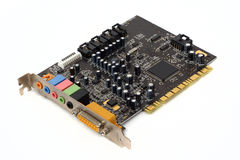 PC sound card stock photo