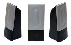 PC speakers isolated Royalty Free Stock Image
