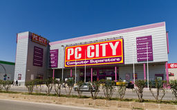 PC Stadt Montigal?, Barcelona Spanien. Stockbild