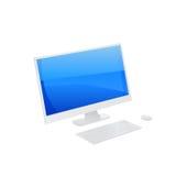 PC sur le blanc. Vecteur Photos stock
