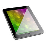 Pc tablet. 3d render of pc tablet with clipping path on white background Royalty Free Stock Images