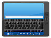 PC tablet with keyboard Royalty Free Stock Images