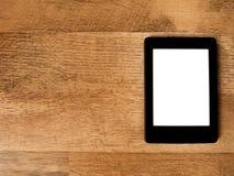 PC-Tablet op Hout Stock Foto