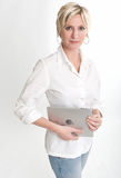 PC tablet owner Royalty Free Stock Photo