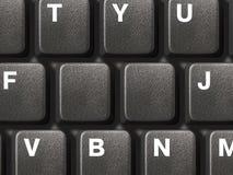 PC-Tastatur mit zwei leeren Tasten Stockfotografie