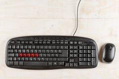 PC-toetsenbord met woordaandeel in rode kleur Royalty-vrije Stock Foto