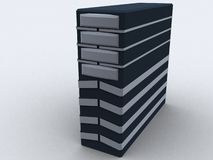 Pc tower in black. For web Royalty Free Stock Photo