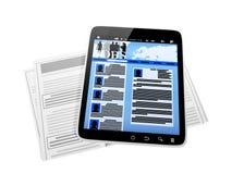 PC van de tablet, Royalty-vrije Stock Afbeeldingen