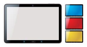 PC van de tablet die met copyspace wordt geplaatst - geïsoleerdet vector Stock Afbeeldingen