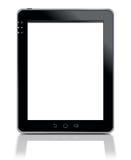 PC van de tablet die op wit wordt geïsoleerd Stock Afbeeldingen
