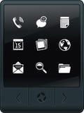 PC van de tablet met pictogrammen Stock Afbeeldingen