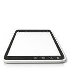 PC van de tablet op een witte achtergrond Royalty-vrije Stock Fotografie