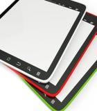 PC van de tablet op een witte achtergrond Stock Afbeeldingen