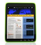 PC van de tablet op een witte achtergrond Royalty-vrije Stock Foto