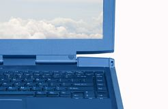 PC van het notitieboekje Stock Foto