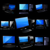 Pc vector set. Stock Images