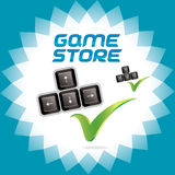 PC and Video Arcade Games Accept Icon, Button, Sig Royalty Free Stock Image