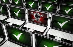 Pc virus. 3d high quality render Stock Photos