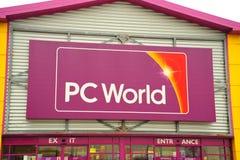 PC-Weltspeicherfrontseite stockfoto