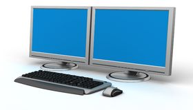 PC Workstation Stock Photo